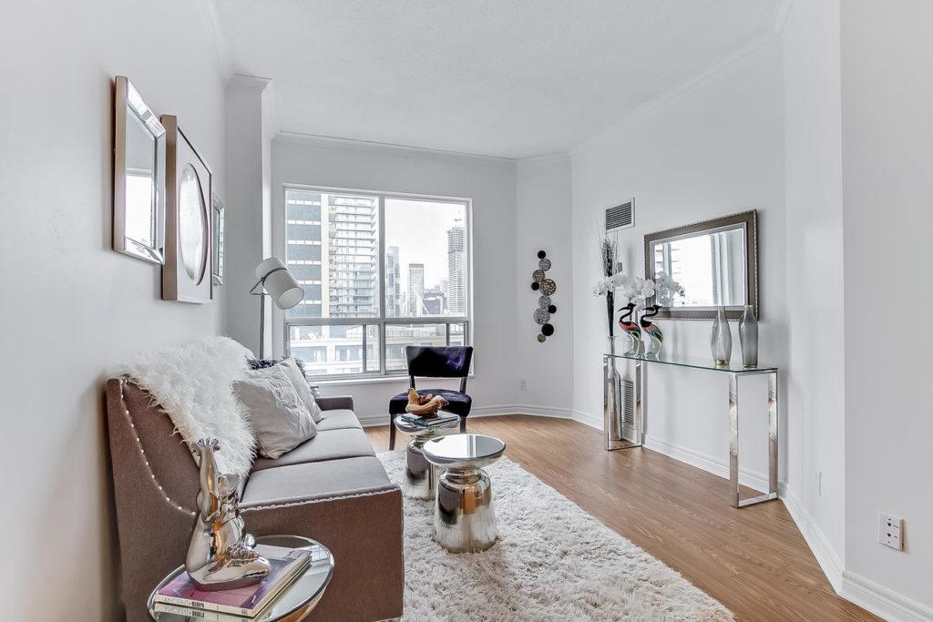 Living Space, 55 Bloor, Toronto Condo Staging