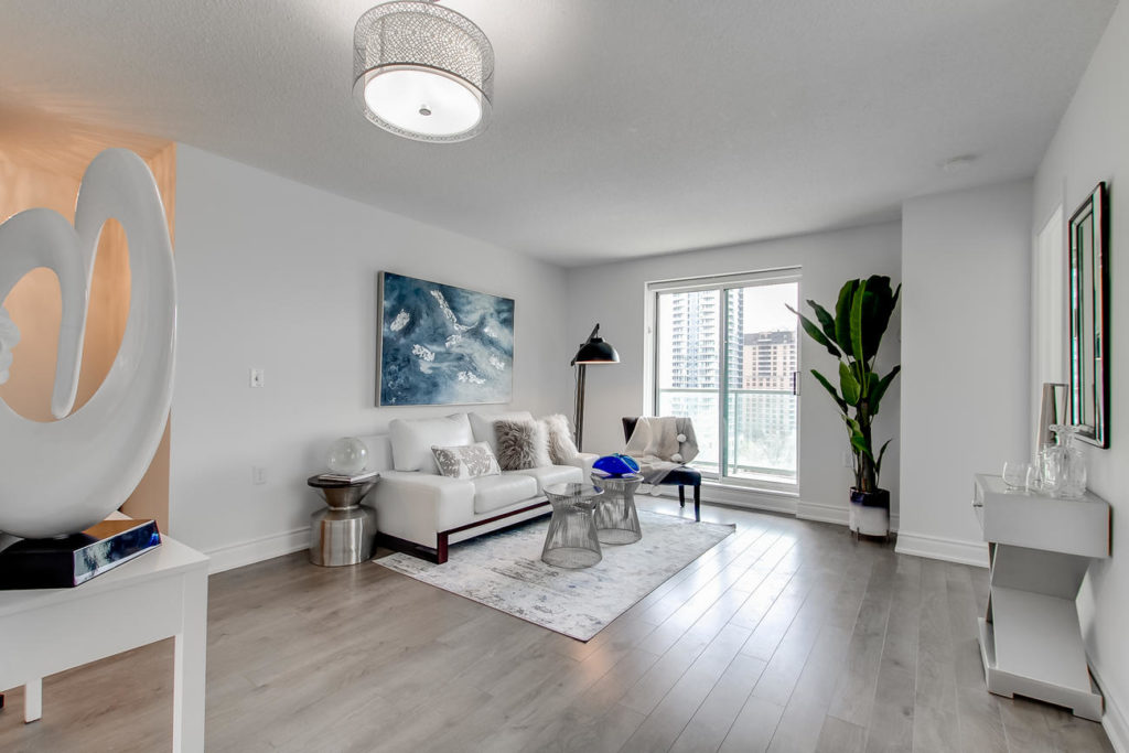 Sitting Room, 20 Olive Ave, Toronto Condo Staging