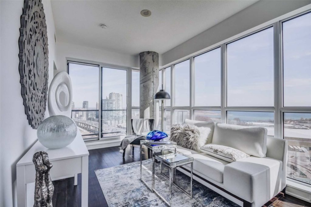 Sitting Room, 51 East Liberty, Toronto Condo Staging