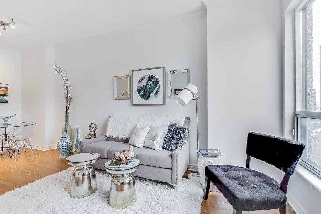 Sitting Room, 55 Bloor, Toronto Condo Staging