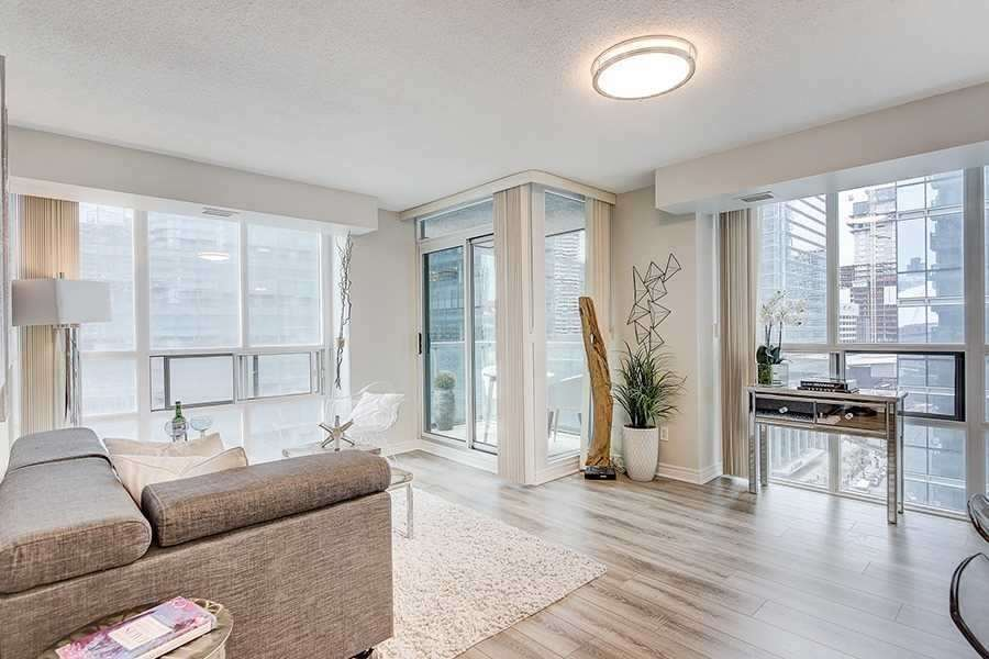 Balcony Entrance, 30 Grand Trunk, Toronto Condo Staging