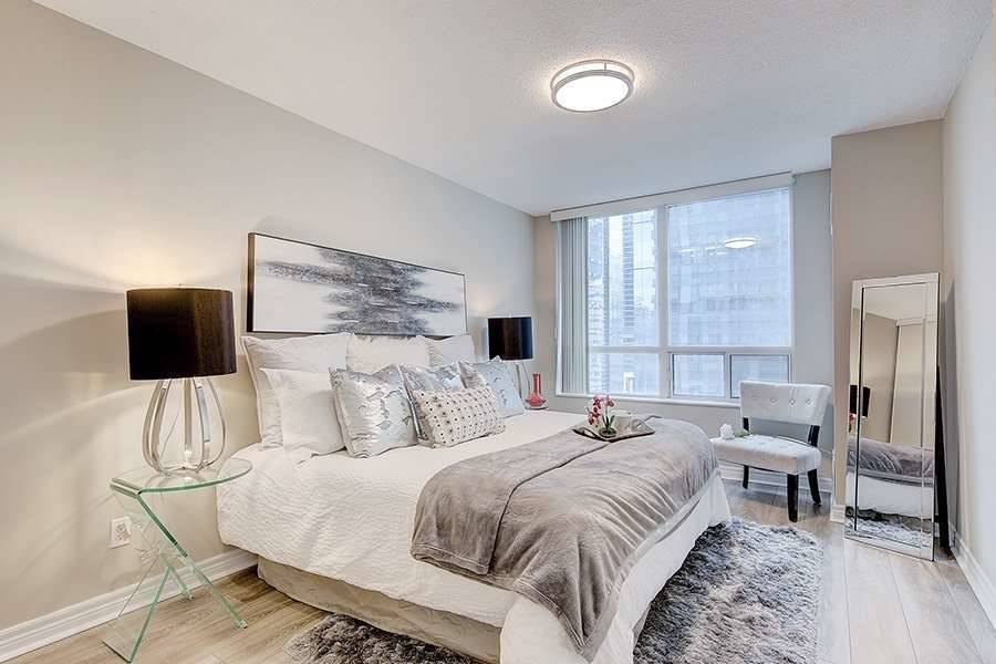 Bedroom One, 30 Grand Trunk, Toronto Condo Staging