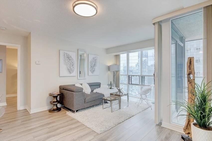 Living Room Walkway, 30 Grand Trunk, Toronto Condo Staging