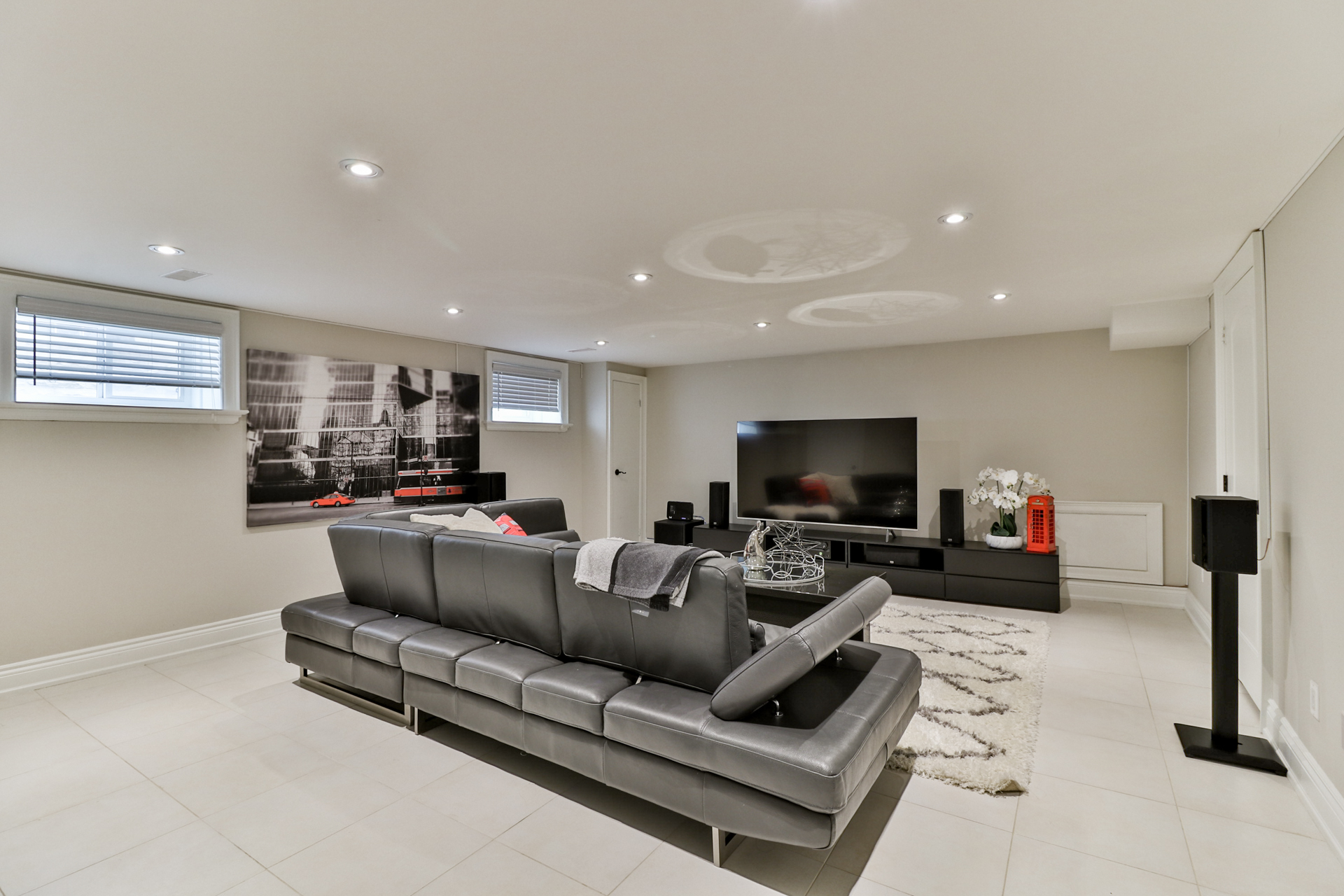 Basement Living Area, 149 Shaver, Etobicoke Home Staging