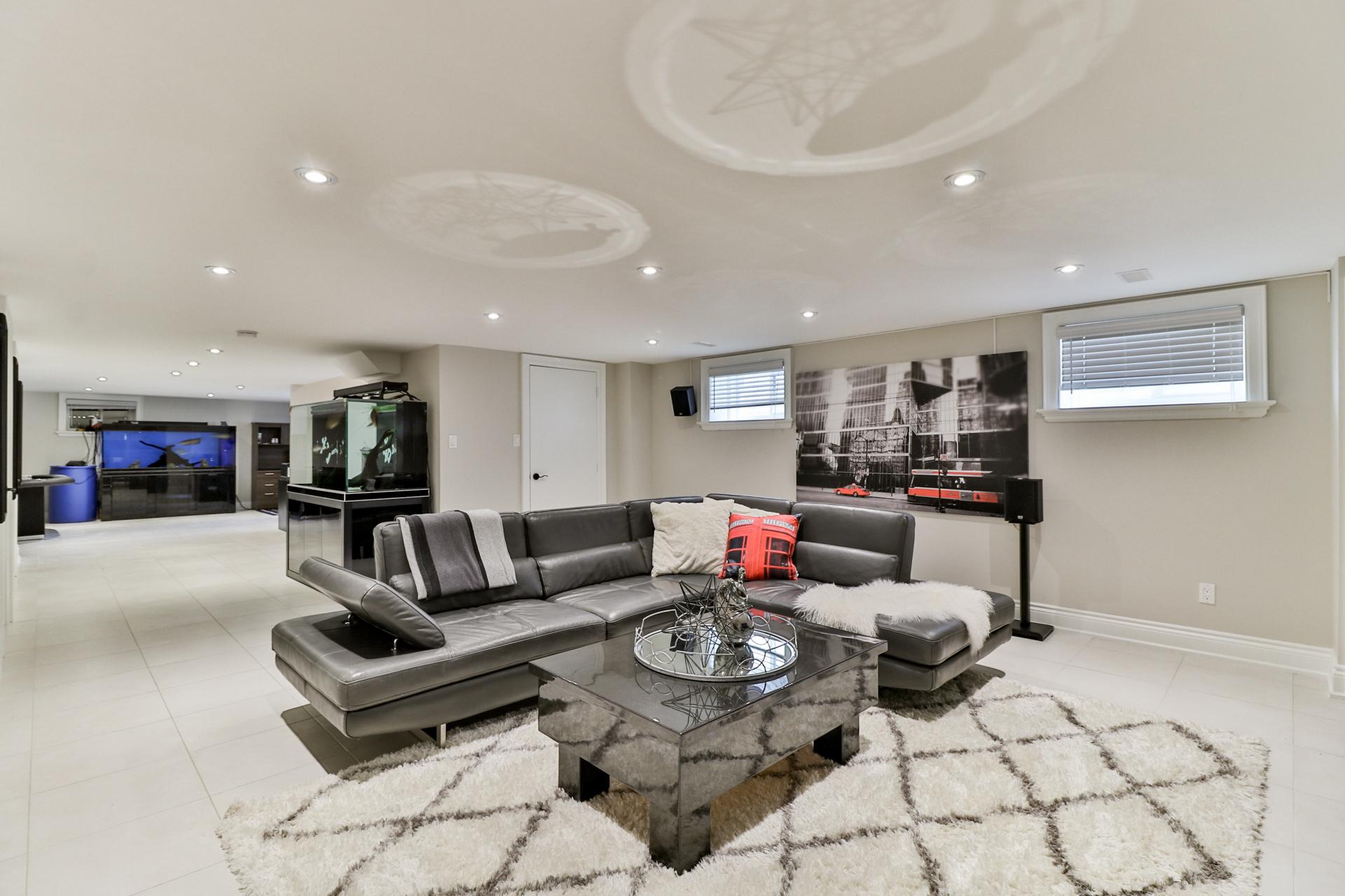 Basement Living Room, 149 Shaver, Etobicoke Home Staging