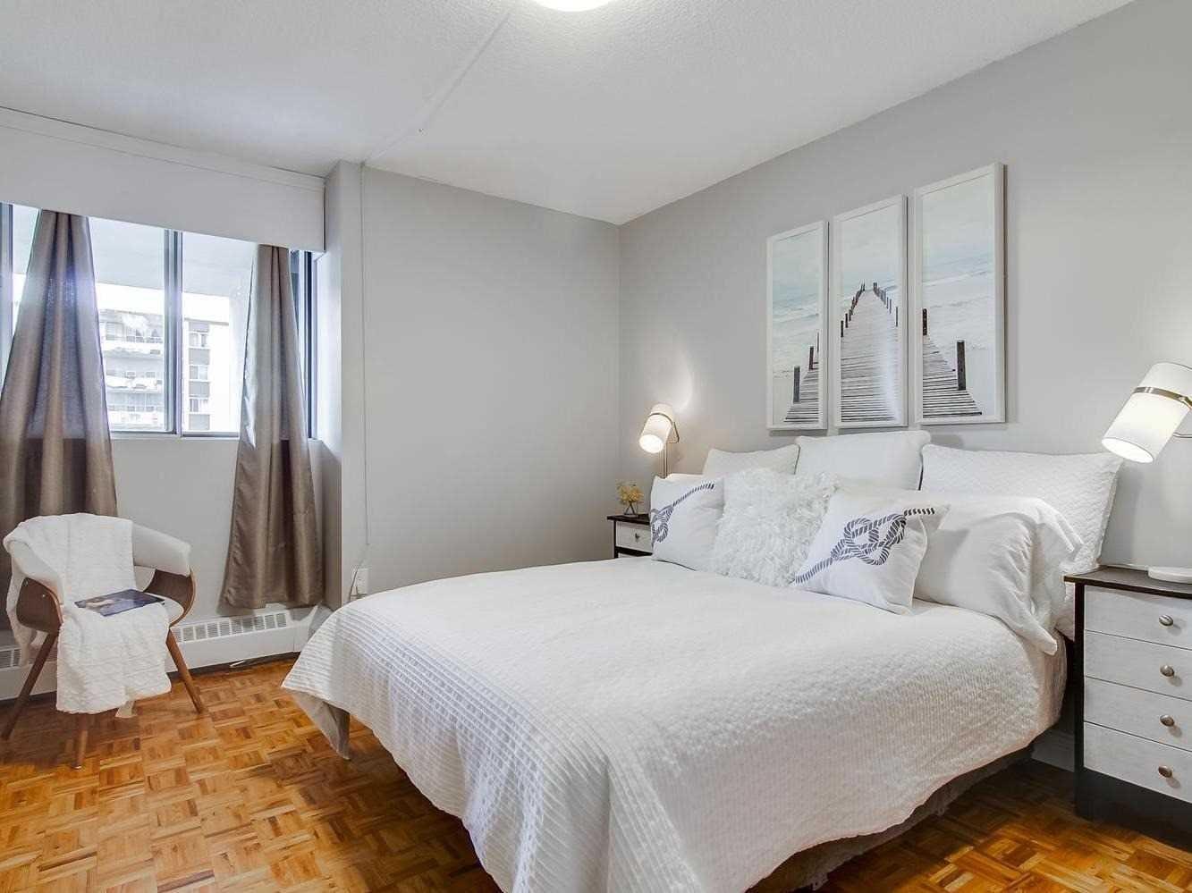 First Bedroom, 3380 Eglinton, Scarborough Condo Staging