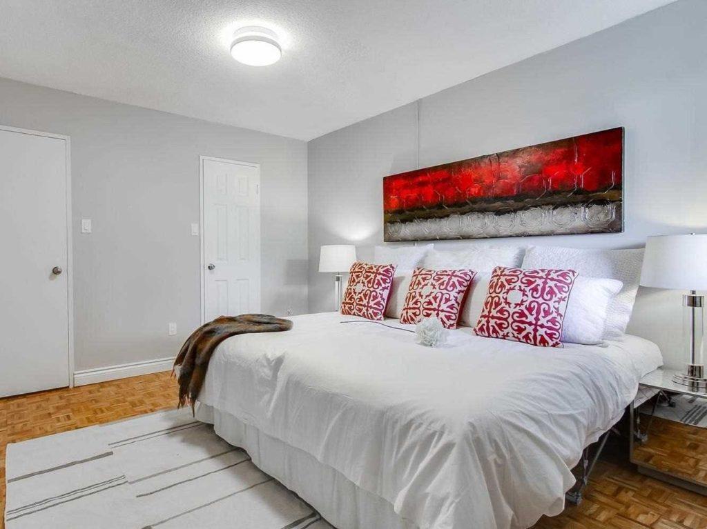 Bedroom with 2 Closets, 3380 Eglinton, Scarborough Condo Staging