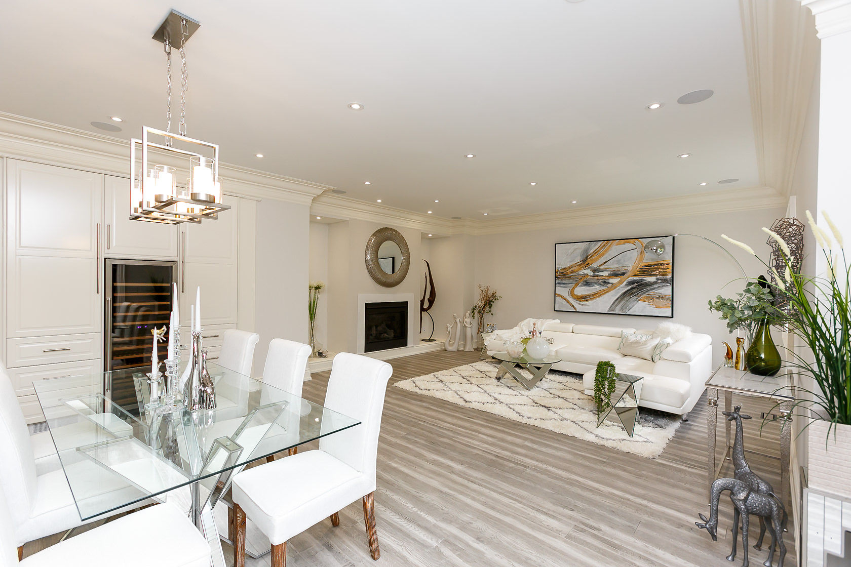 Dining Room and Fireplace, 49 Rossburn, Etobicoke Home Staging