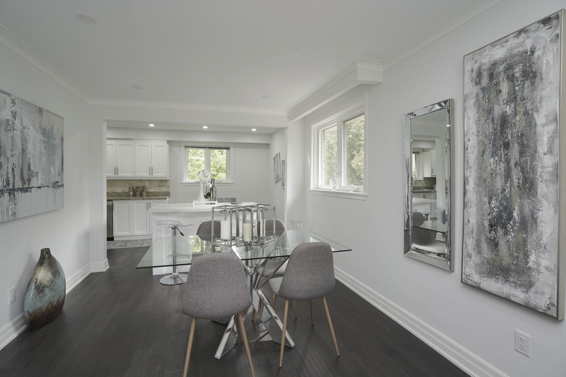 Dining Room, Kitchen, 571 Rathburn, Etobicoke Home Staging