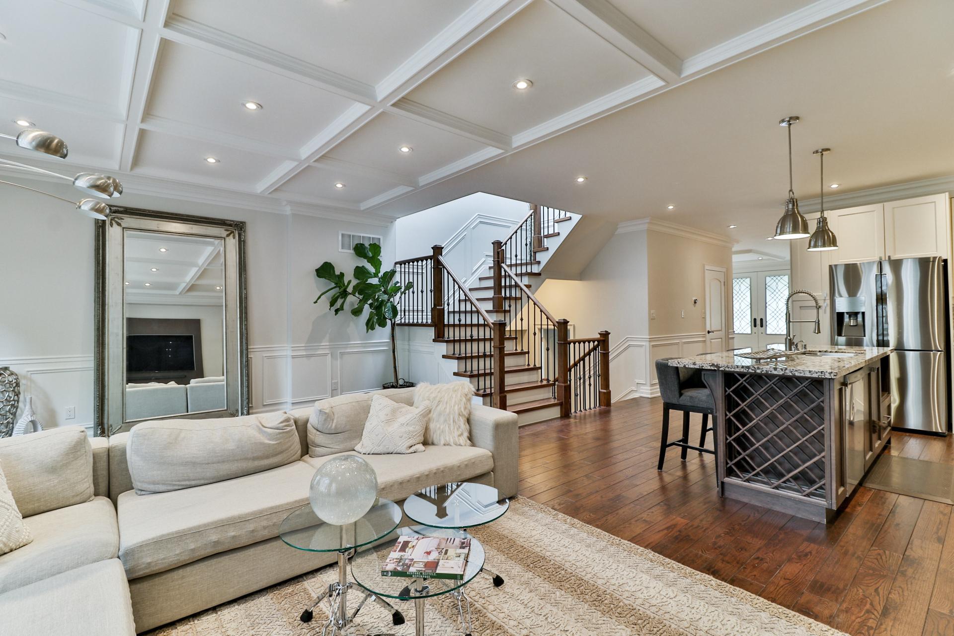 Family Room, 149 Shaver, Etobicoke Home Staging