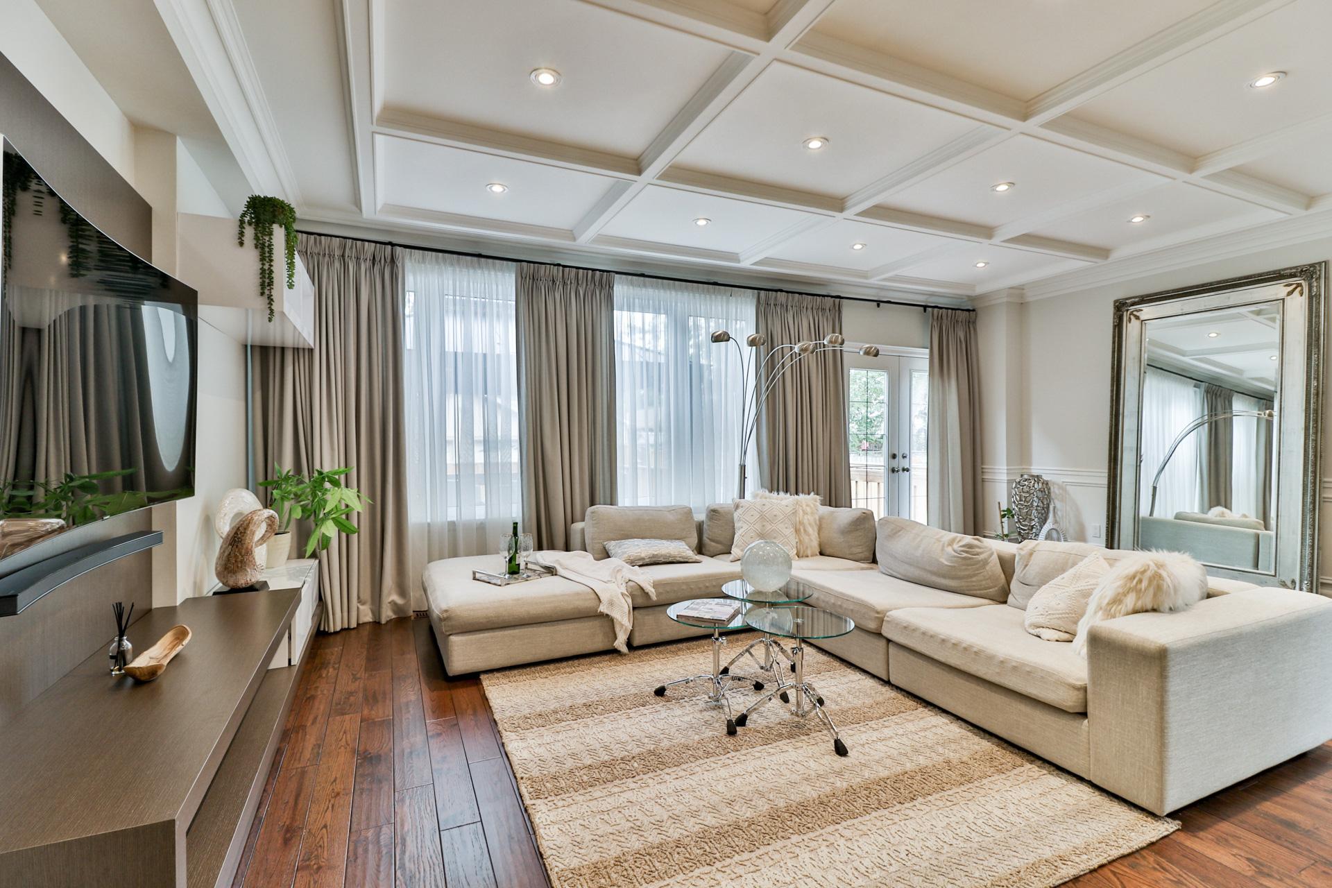Family Room Area, 149 Shaver, Etobicoke Home Staging