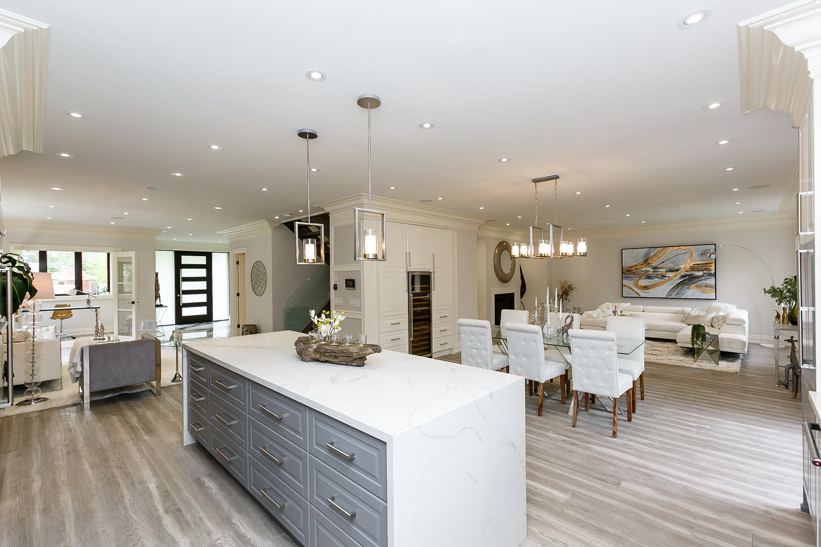 Kitchen, Dining and Living Rooms, 49 Rossburn, Etobicoke Home Staging