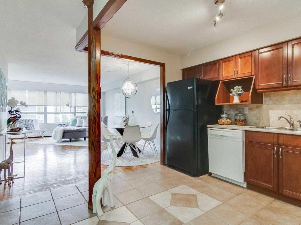 Kitchen, Dining Room, Living Room, 3380 Eglinton, Scarborough Condo Staging