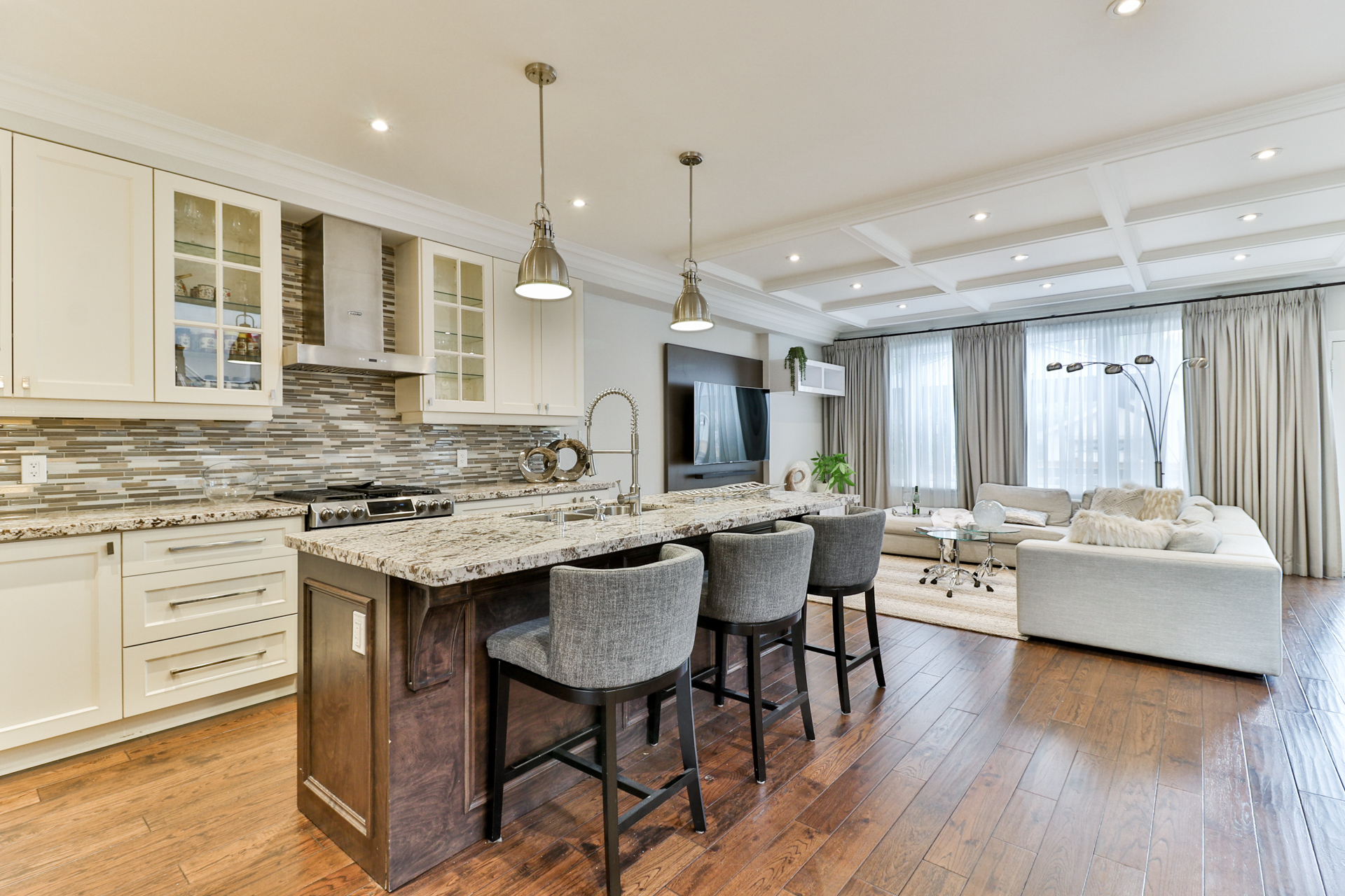Kitchen and Living Area, 149 Shaver, Etobicoke Home Staging