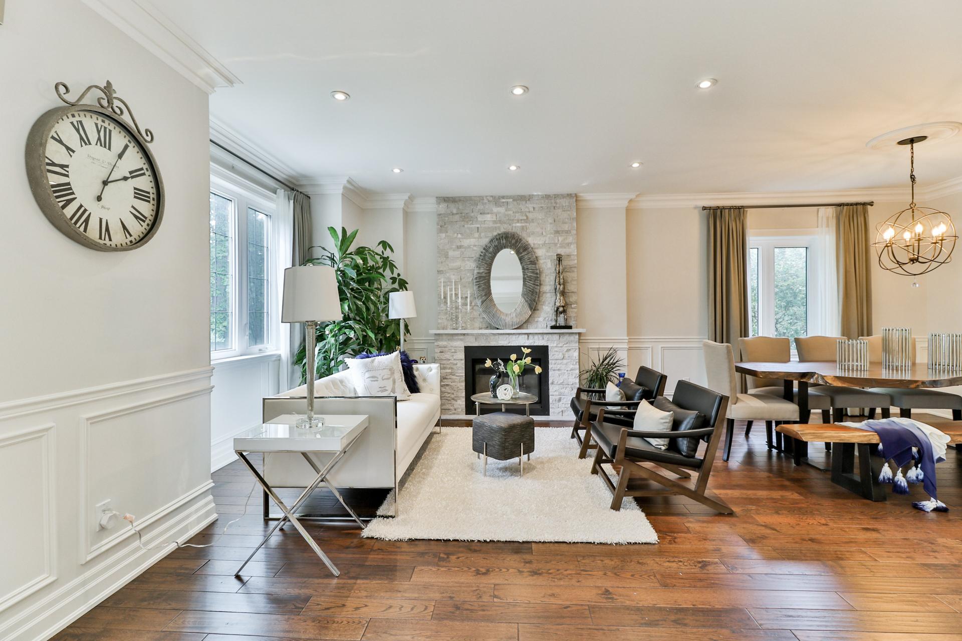 Living Area, 149 Shaver, Etobicoke Home Staging