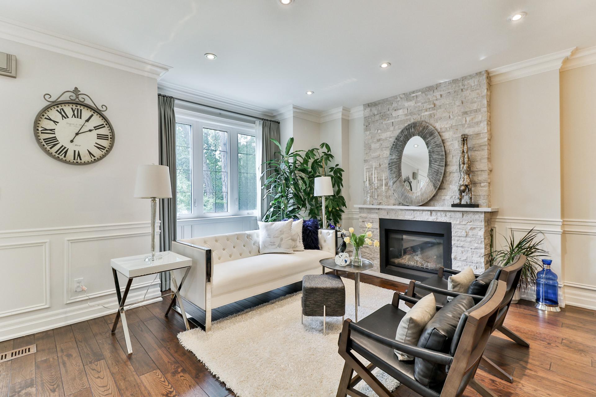 Living Room, 149 Shaver, Etobicoke Home Staging