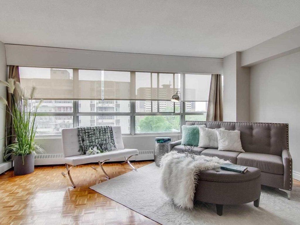 Living Room, 3380 Eglinton, Scarborough Condo Staging