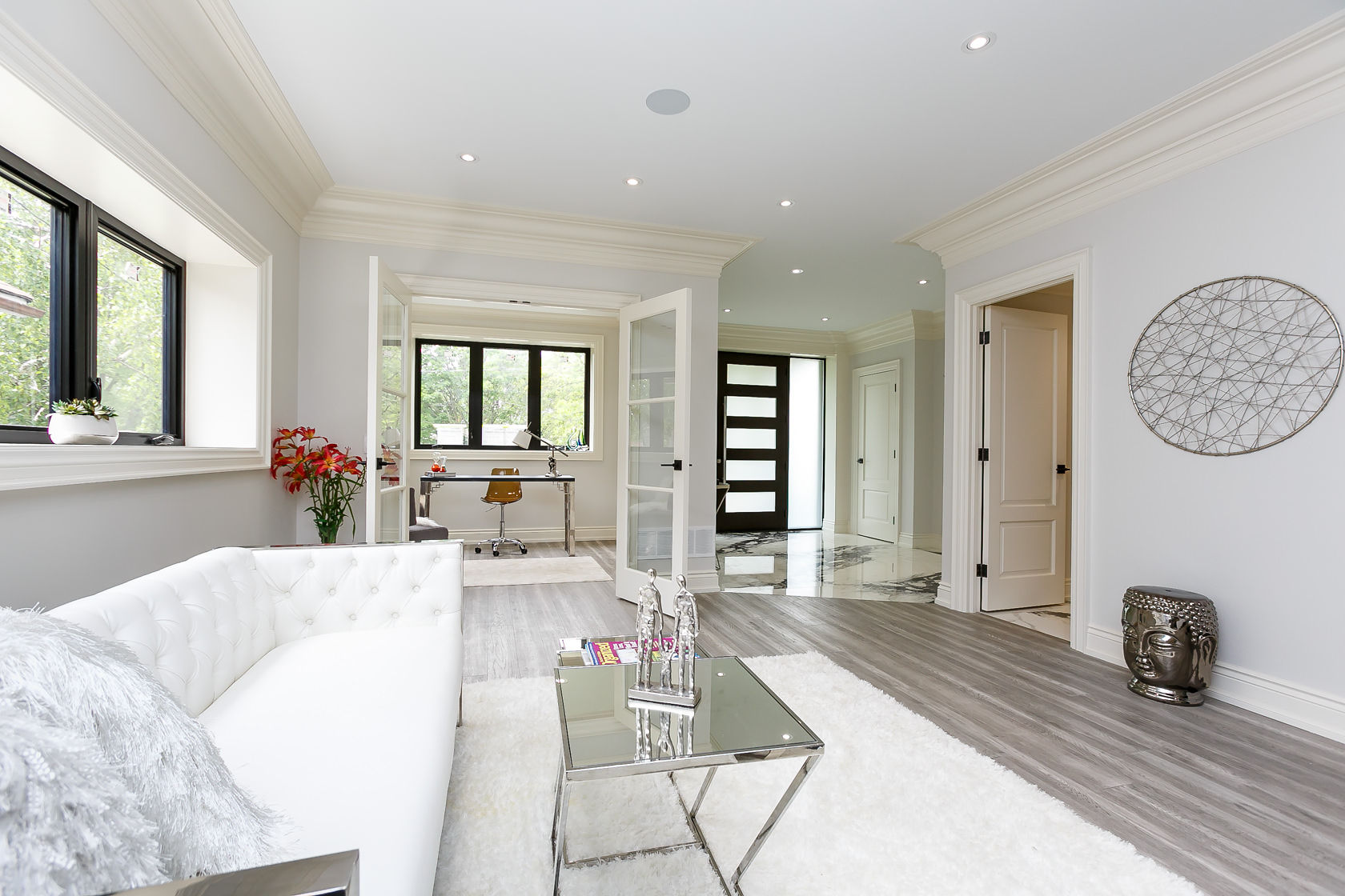 Living Room Walkway, 49 Rossburn, Etobicoke Home Staging