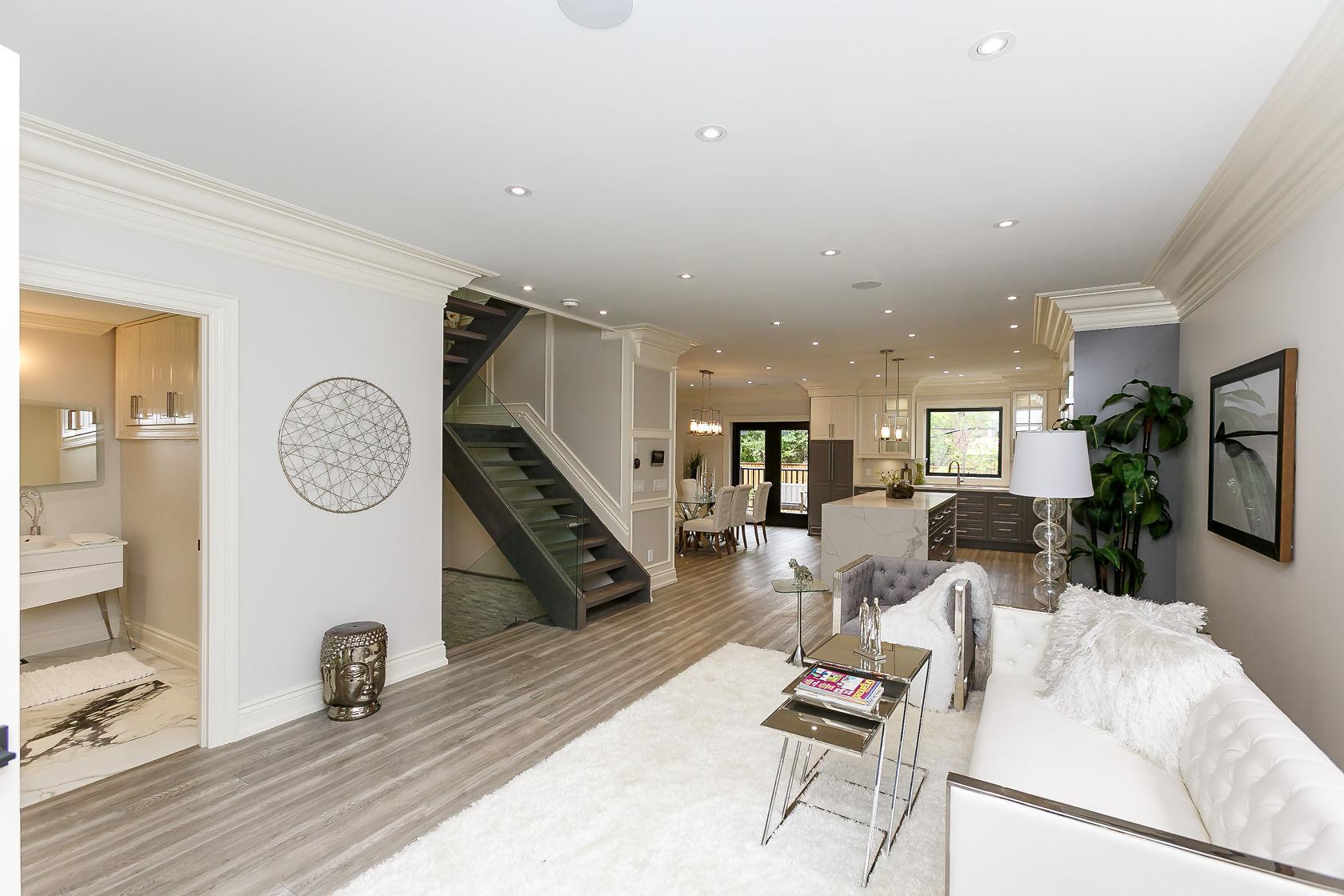 Main Floor View, 49 Rossburn, Etobicoke Home Staging