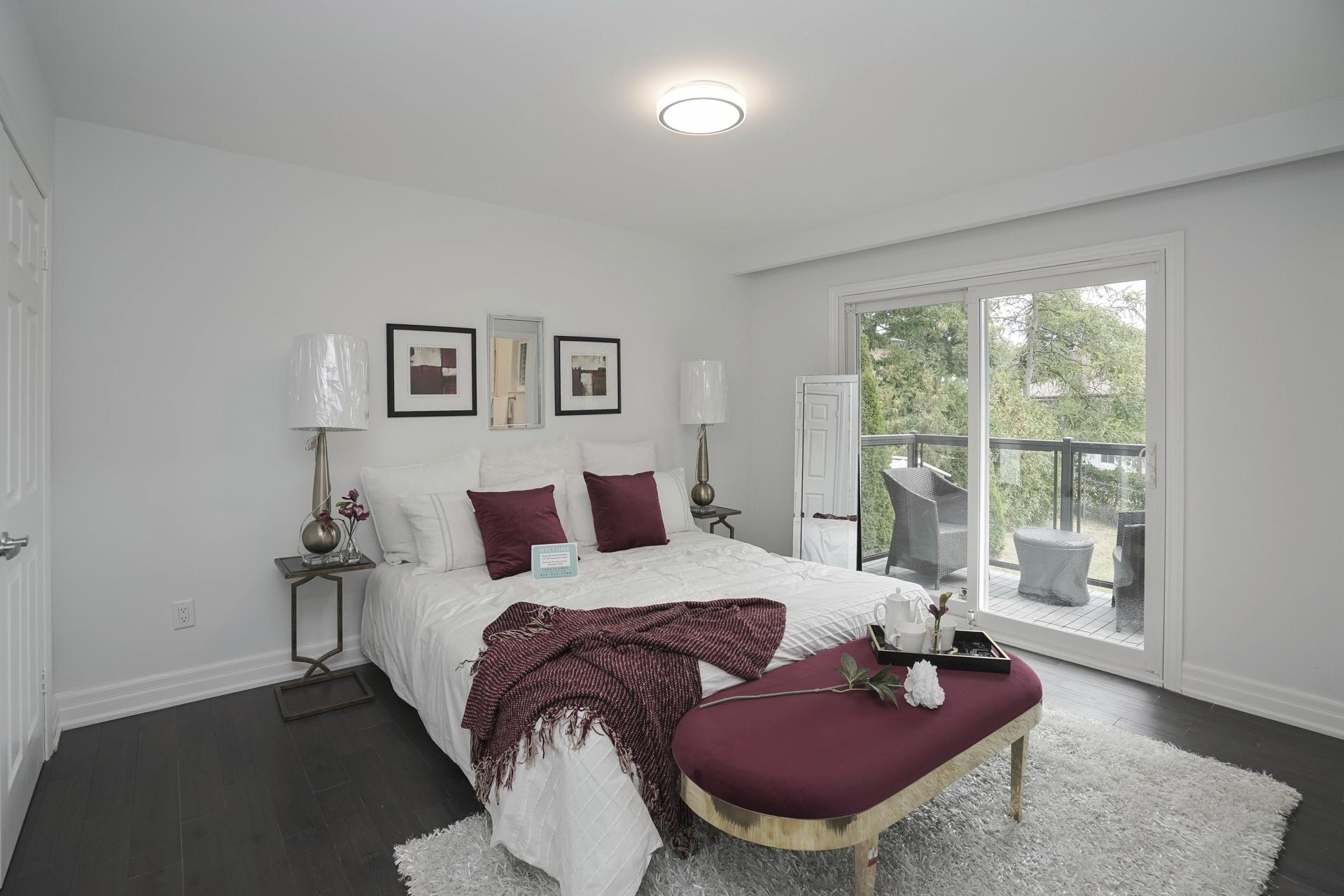 Master Bedroom, 571 Rathburn, Etobicoke Home Staging