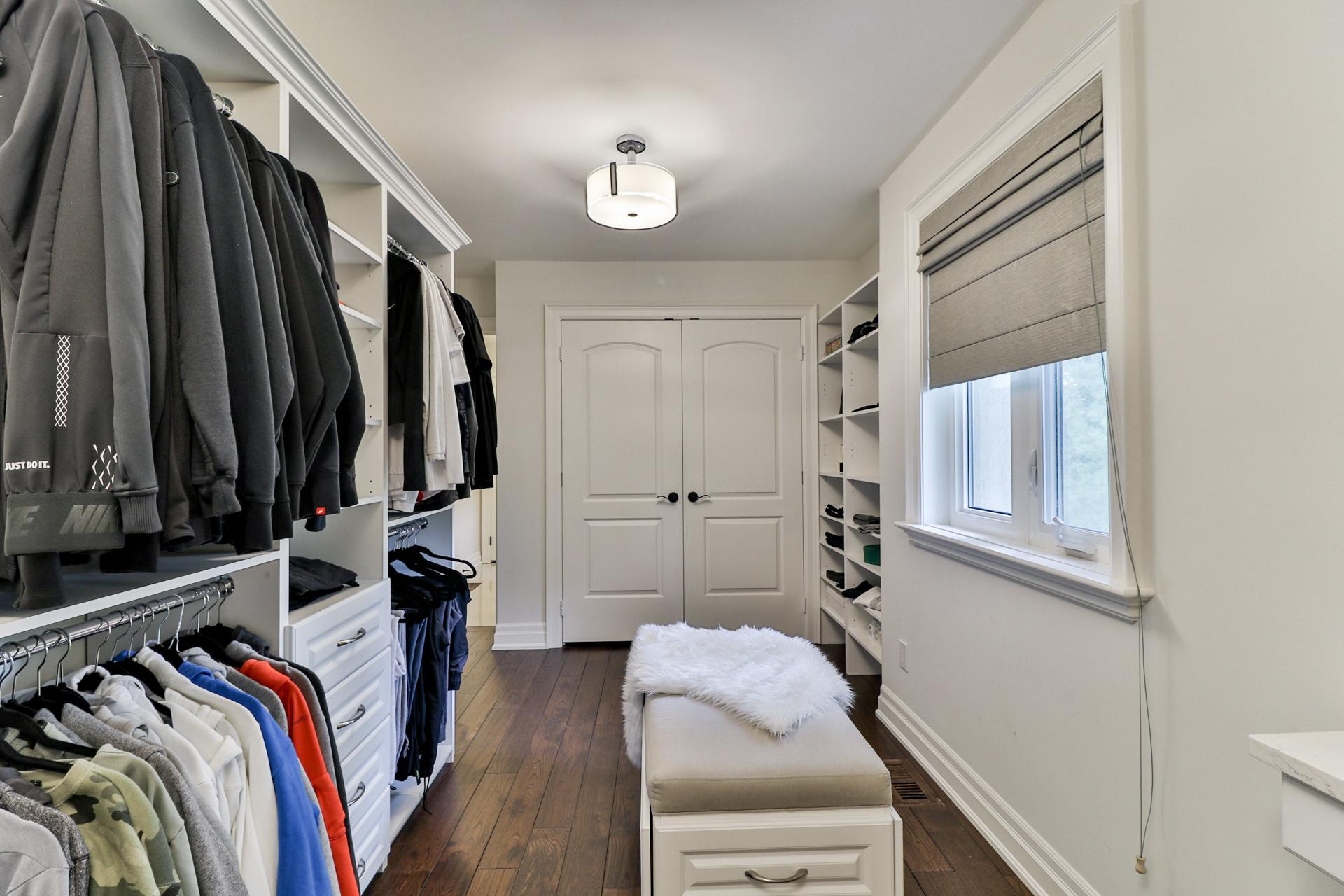 Master Bedroom Closet Interior, 149 Shaver, Etobicoke Home Staging