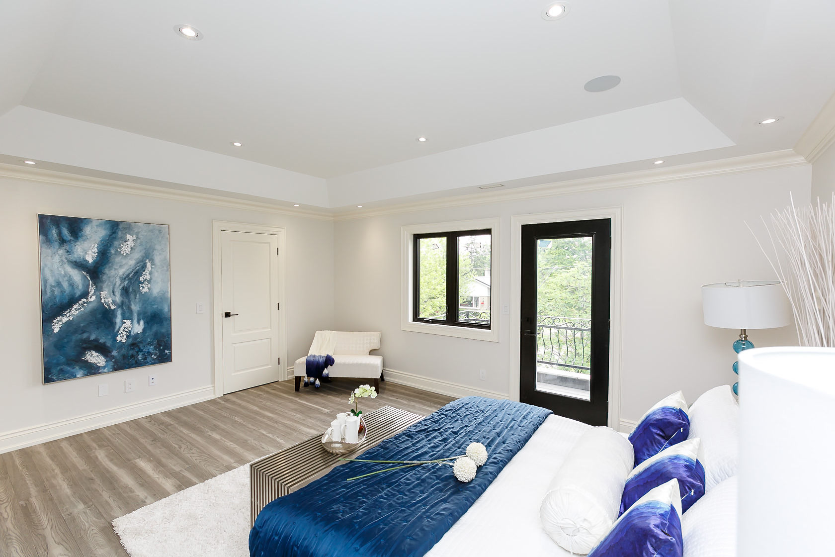 Master Bedroom Corner, 49 Rossburn, Etobicoke Home Staging