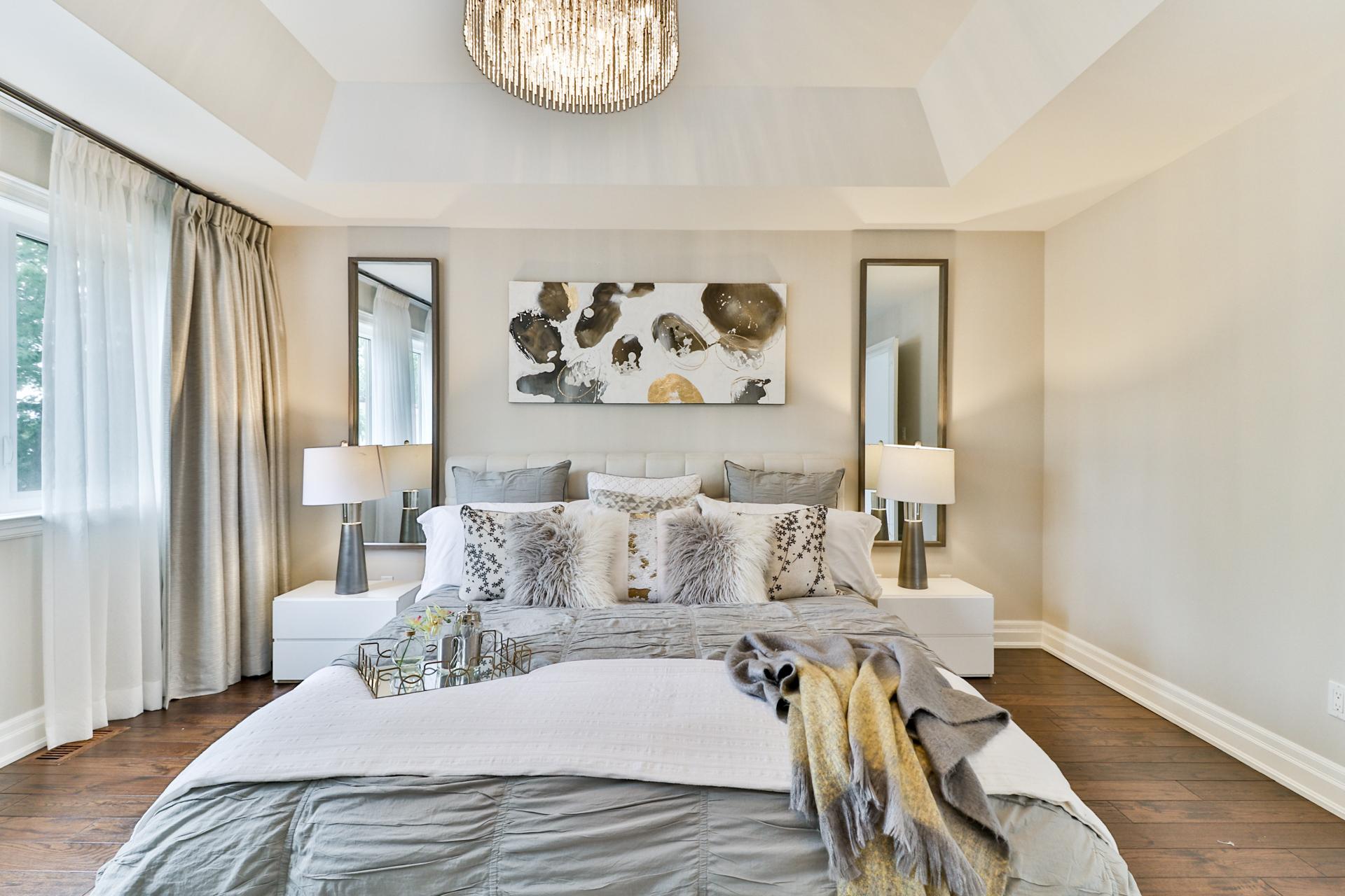 Master Bedroom Walkway, 149 Shaver, Etobicoke Home Staging