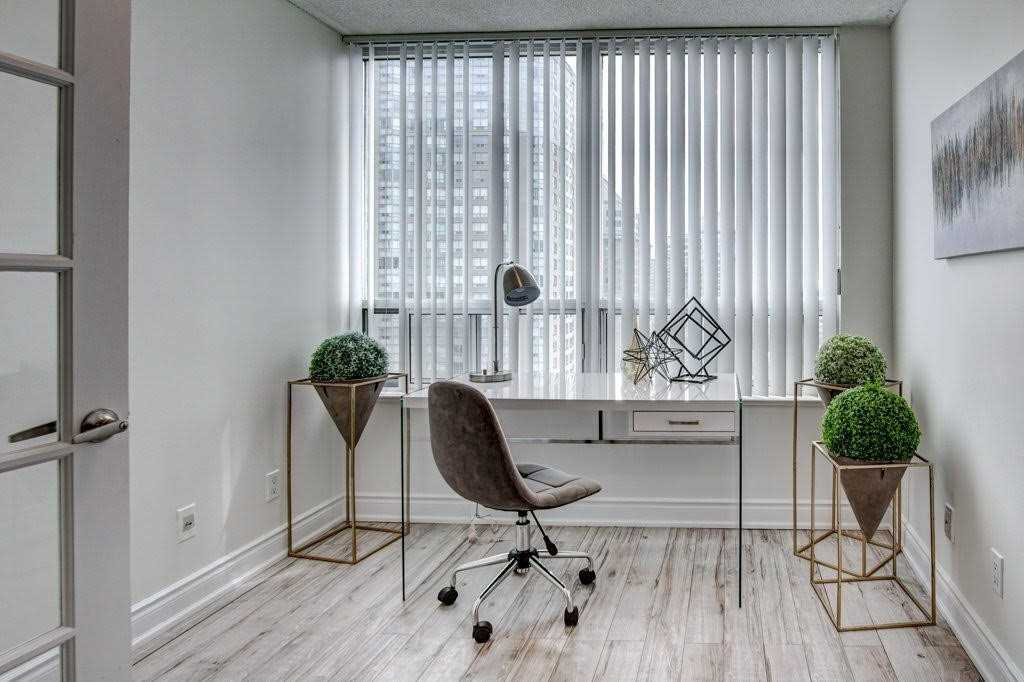 Office Window, 68 Corporate, Toronto Condo Staging