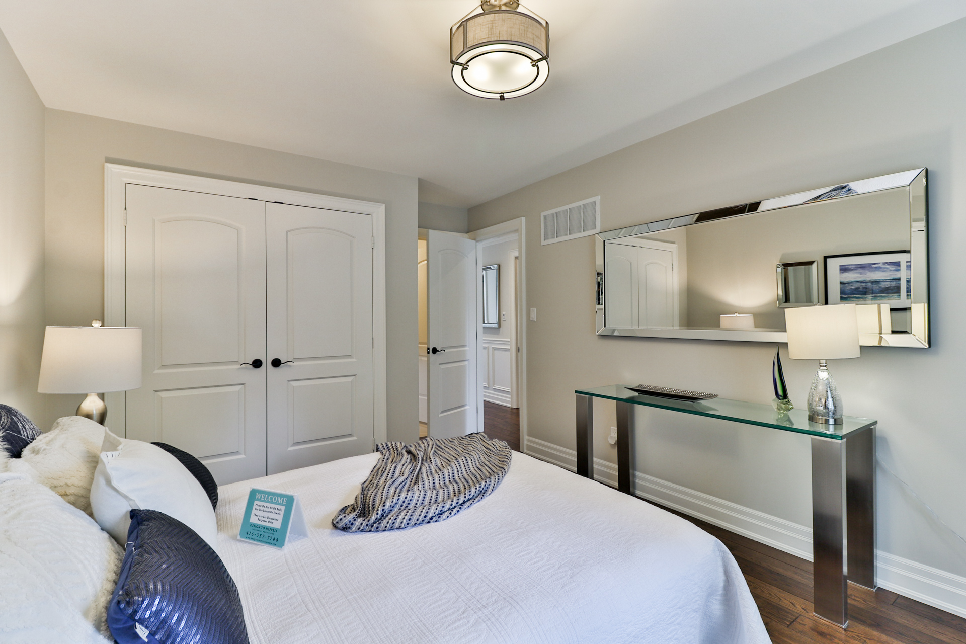 Second Bedroom Walkway, 149 Shaver, Etobicoke Home Staging