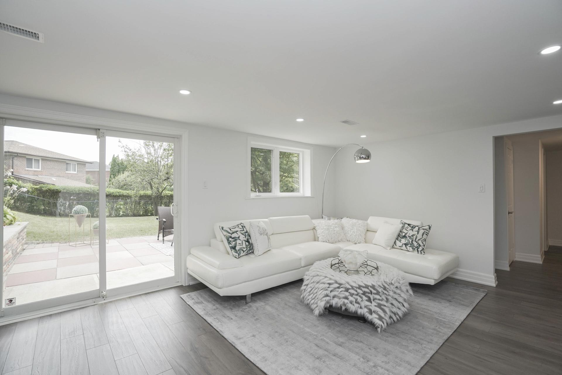 Sitting Area, Lower Level, 571 Rathburn, Etobicoke Home Staging