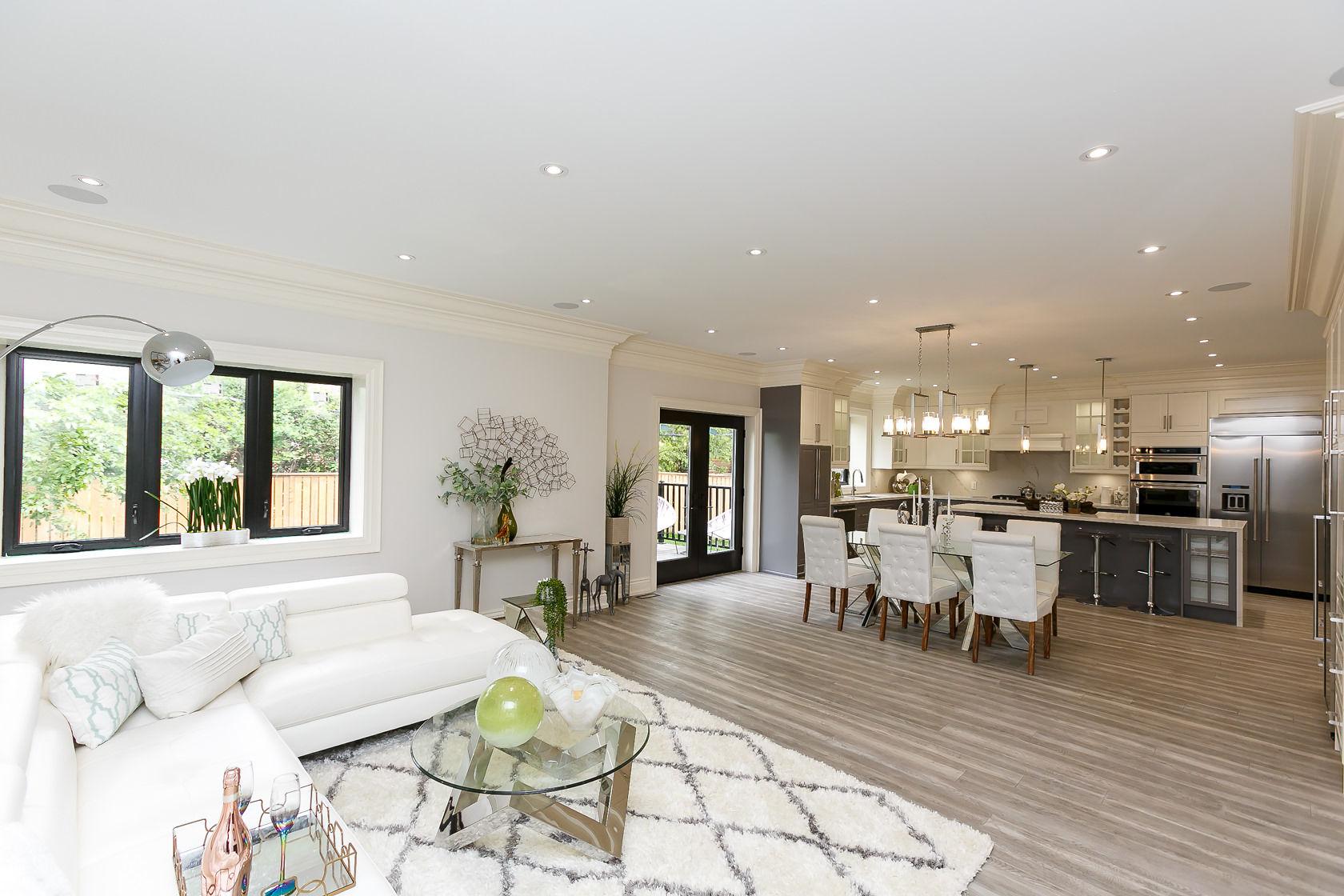 Sitting Room, Dining Room, Kitchen, 49 Rossburn, Etobicoke Home Staging