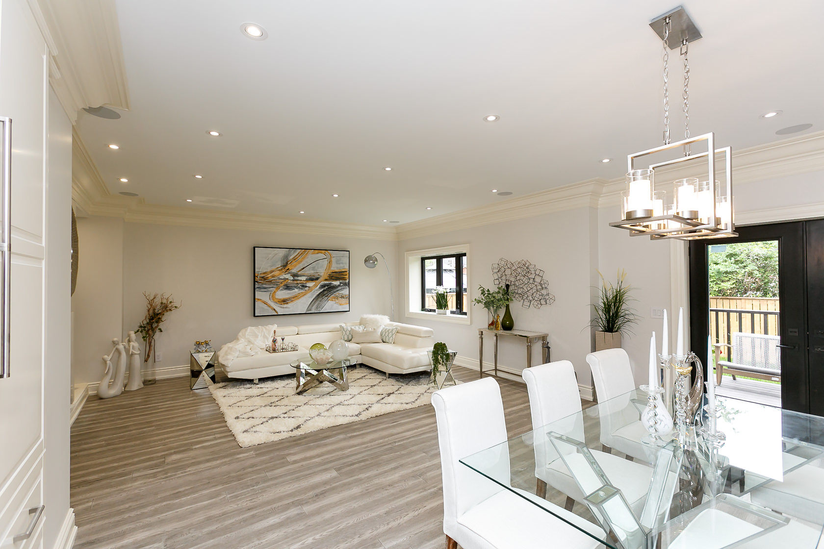 Sitting and Dining Room, 49 Rossburn, Etobicoke Home Staging