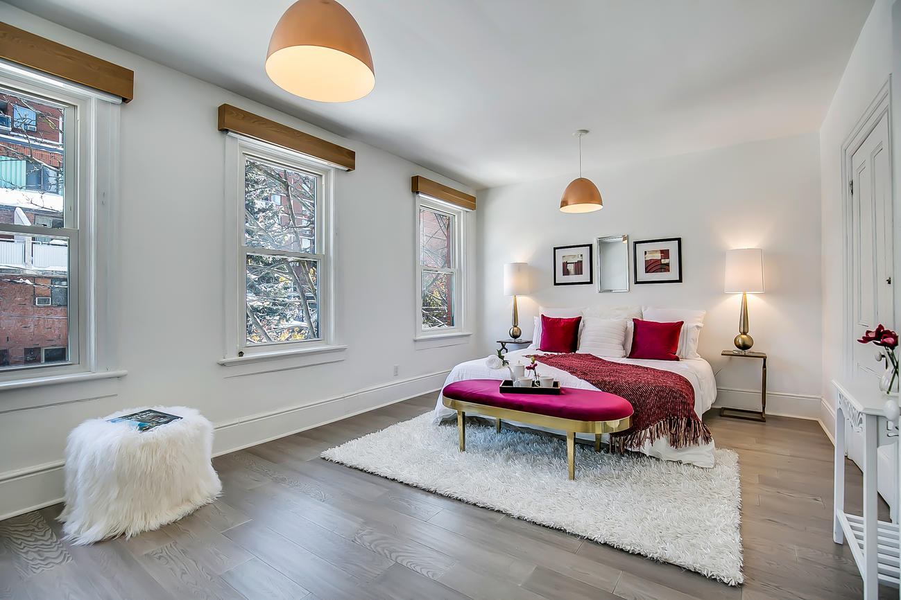 Bedroom One, 90 Bleecker, Toronto Home Staging