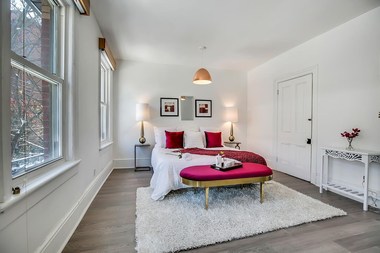 Bedroom One Windows, 90 Bleecker, Toronto Home Staging