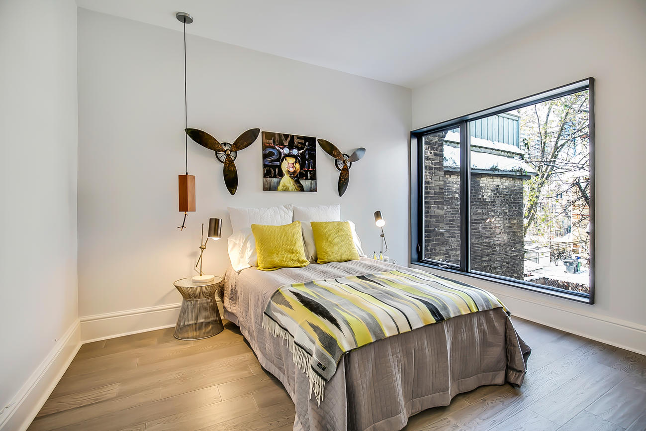 Bedroom Two Window, 90 Bleecker, Toronto Home Staging