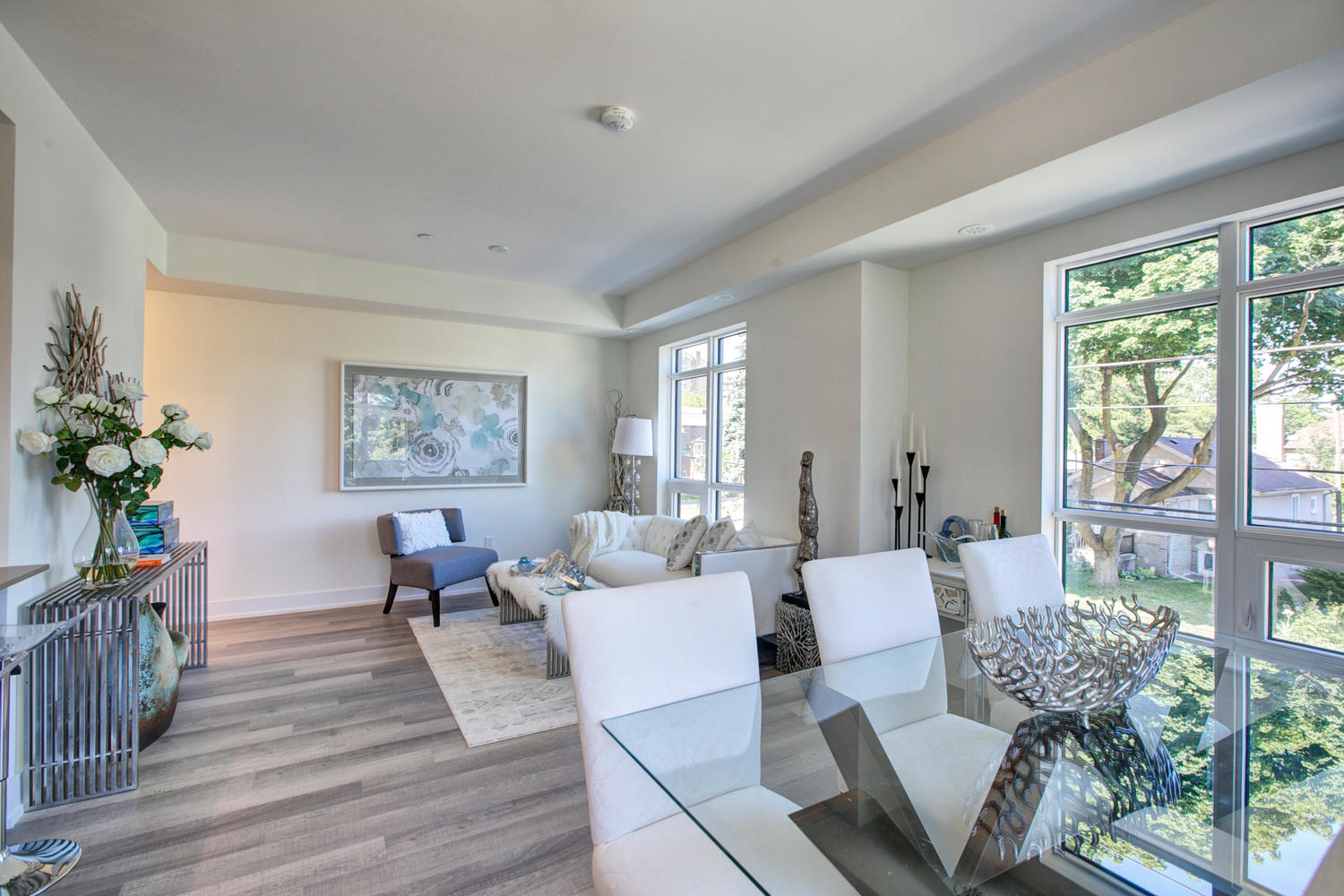 Dining and Living Rooms, 52 Holmes, Toronto Condo Staging