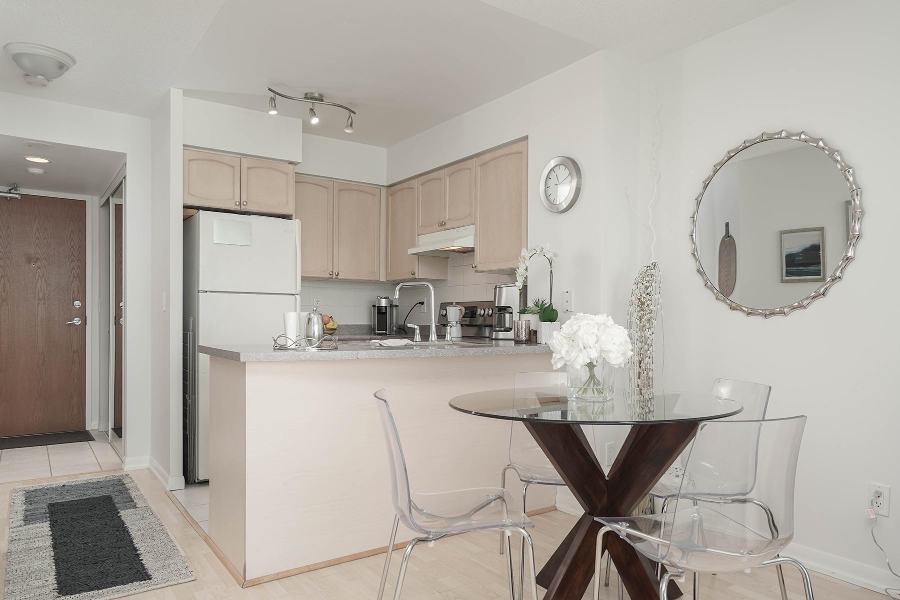 Kitchen, 219 Fort York, Toronto Condo Staging