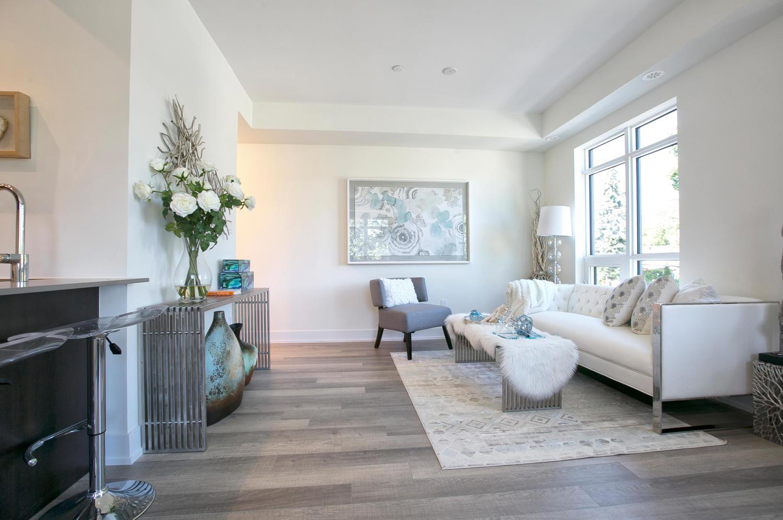 Living Room Walkway, 52 Holmes, Toronto Condo Staging