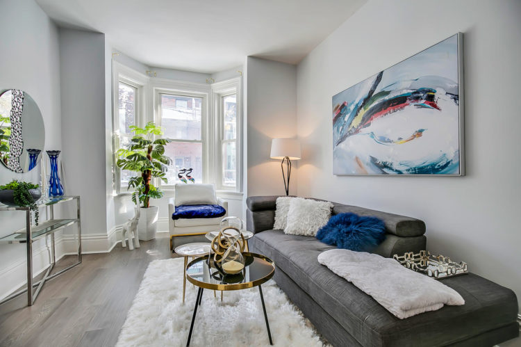 Main Area Sitting Room, 90 Bleecker, Toronto Home Staging