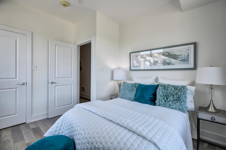 Master Bedroom Door, 52 Holmes, Toronto Condo Staging